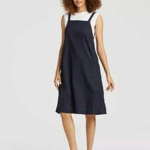 Eileen Fisher organic cotton denim Jumper dress XL